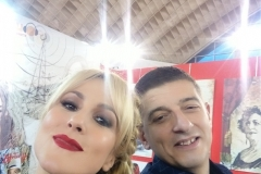 SAJAM MEDIJA 2018: Glumica Iva Štrljić i naš urednik Nebojša Vučinić